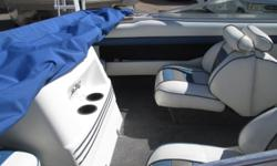 This quality built Big Name SEA RAY 180 open bow has brand new carpet throughout and is ready for the lake! It?s got a powerful upgraded 4.3ltr Mercruiser engine with a full marine service from Cowboys RV Mart?s A+ BBB service department! Bimini,