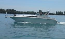Exceptional care makes this freshwater Sundancer one you have to see. Always freshwater, these owners have made continuous investments to make the stand very tall. Differentiating factors to consider on this 440 Sundancer: -New full size galley