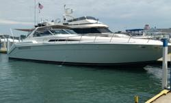 When introduced, the 500 Sundancer set the standard for express cruisers and its' long foredeck, sleek profile, high-end interior style & comfortable floor plan keep this boat in constant demand. In addition to the well-appointed salon with a plush sofa,