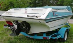 There is lots of room for family and friends in this 19ft bow rider. The 4.3 litre Mercruiser V-6 has plenty of power to pull tubes and skiir's. It has all the coast guard equipment included. It has a custom Eagle trailer. Beam: 7 ft. 10 in. Hull color:
