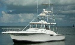 Description The 38 Luhrs Open has all the great features for an express fishing boat; style looks beam centerline helm big cockpit seating at helm easy access to tower transom door transom fish boxneed I say more.built on a 14 11 beam and a big cockpitan