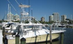 Description 38' Luhrs Open built to go off shore in the toughest seas and get you home safely with New custom yellow paint job by Cay Marine updated interior new touch screen Garmin 5212 with new radar array. Flat screen TV in salon. Engine room