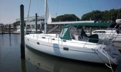 Designed by Finot and Built by Beneteau this popular design will provide her owners with plenty of cruising performance and comfort, blended with safety and true ease of handling. Her fin keel with bulb has a low center of gravity which allows her to sail