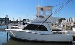 1993 32 Albemarle Flybridge with freshly majored Caterpillar 3116 350hp Diesel Engines! New Electronics and 1080HD TV, Blu-ray & PC Switlik 6 man Life Raft Underwater Lights Full Winter Cover Newer Fuel Tanks Newer AC Unit Fighting Chair