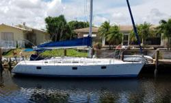 1993 Beneteau 405 ex Moorings boat with 3 stateroom/ 2 head interior arrangement. Some newer gear and Perkins 50 hp diesel engine with 2300 hours. The boat has alot of potential for the price. Nominal Length: 40' Length At Water
