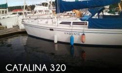"""Actual Location: Port Hadlock, WA - Stock #053203 - """"Classic Catalina 320 in Great Condition""""The Catalina 320 was introduced in 1993, along with its little sister the Catalina 270, as the first in a series of designs intended to go head to head with the"""