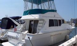LOOK ;A TWO Stateroom 35 footer The Mainship Mediterranean 35 Convertible is an aggressively styled family sedan with -what was—and remains—one of the largest interior layouts in her class. The rakish profile of the Mediterranean