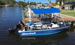 1993 Mirrocraft 1730 Pro Fisherman 16.7 Fishing Boat 2005 Mercury 50 HR 4 Stoke outboard 30 thrust trolling motor All aluminum Bimini Compass 2002 Alum boat trailer Unit is located in Palm Harbor FL. Financing Nationwide Shipping and Warranties available
