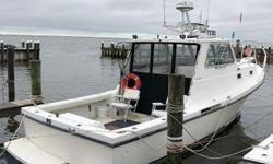 Heavily built to take to the water as either a commercial fishing boat or a private vessel to take the sportsman safely to the canyon and back to the dock. It's large cockpit with ample rod holders gives room for the fisherman to work.  Nominal