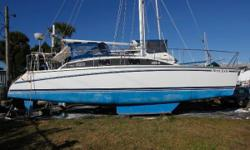 """The PDQ 36 is an affordable, safe and proven performance cruising catamaran. Her 2'10"""" draft is ideal for tucking into protected harbor ages while her 18'3"""" beam w/comfortable bridge deck add amazing comfort and stability. When not under sail"""