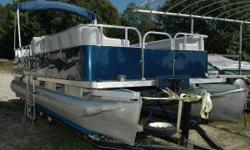 NEW Winter Pricing ONLY $5,995! ALL NEW SEATING, ALL NEW CARPET, ALL NEW WALLS!! Not very often do we get a used pontoon boat that has been all redone, but here it is!! This boat is your opportunity to be on the water with your family and friends, in