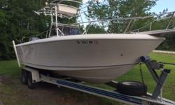 1993 Pro Line 230 Sportsman,2011 250 HP Yamaha 4-Stroke with 197 Hours, $20,500, 25 FT Center Console, Stainless Steel Transom Bracket, T- Top, Garmin 498 Combo Unit, Two Down Riggers, Hydraulic Steering, SS Prop, Removable Live Well, Transom Live Wells,