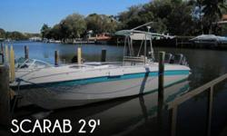 Actual Location: Sarasota, FL - Stock #072113 - If you are in the market for a fishing, look no further than this 1993 Scarab 30 Scarab Sport, just reduced to $25,500.This boat is located in Sarasota, Florida and is in good condition. She is also equipped