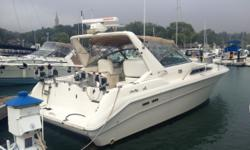One of Sea Ray's success stories the 330 EC has always been known as being a very versatile boat. Enough room to sleep 4 and if you wanted, fish for the entire weekend. This boat has only been owned twice. Features include: Michigan curtain, inboards, air