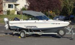 1993 Seaswirl Striper 190 OUR 40TH ANNIVERSARY FALL CLEARANCE EVENT IS GOING ON NOW - HUGE SAVINGS! ? 150 EVINRUDE OIL INJECTED ? 8ML HONDA FOURSTROKE ? HUMMINGBIRD FISHFINDER W/GPS ? TOP,SIDES AND DROP CURTAIN ? COLUMBIA RIVER ANCHOR SYSTEM SNAP-IN