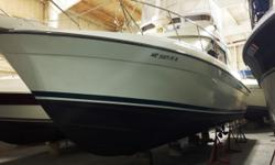 """This boat, simply stated is """"A lot of boat for the money!"""" Stored inside heated, it is all cleaned up and ready to go. The Fly Bridge seats six! Air, Radar, Gen/Set Autopilot all included...a great package. Trades considered. CANVAS BRIDGE ENCLOSURE"""