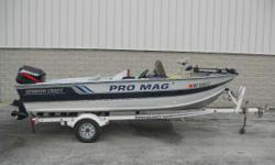1993 SmokerCraft Pro Mag Great starter boat for the novice angler. With the power of a 60HP Mercury this little gem will get you to where you want to go. Options Include: Minnkota Bow Mount Trolling Motor, Dash Graph, and Livewell. Engine(s): Fuel Type: