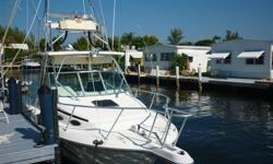 Great fishing boat, has tower with sun awning, and tower helm. Outriggers, with a large cockpit perfect for a day out on the water fishing. Nice large cabin below, with aft berth, and head. Take a look at ALL ***96 PICTURES*** of this vessel on our main