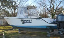 199428 Mako 261B. 2004 Twin 4 stroke 225hp Yamaha's with 759 hours. The engines are maintained by certified yamaha mechanics and the boat has been drystorage kept. Three sided enclosures keep the wind and the water off the crew. The boat features
