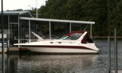 Stock ID: 103860Specs Length Overall (LOA): 29' Features and OptionsBIMINI TOP, SIDE/AFT CURTAINS, MICROWAVE OVEN, COOK TOP, REFRIGERATOR, WATER, CD PLAYER, TV. AFT BENCH SEAT, COCKPIT CARPET, COCKPIT TABLE, COMPASS, SWIM PLATFORM, TILT WHEEL, TRANSOM