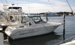 Call owner Joe @ 631-671-1005.Updated in 2010 full Raymarine electronics Radar,C80 Chart GPS fishfinder, VHF. Stereo flatscreen TV, AC, full galley, head w hot cold water. New enclosure, good windless. Boat is in exc. condition. Will consider reasonable