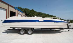Very clean boat with nice interior. Full mooring cover Bimini top and all the extra seat cushions. Great boat for Lake of the Ozarks sitting on a brand new 2018 B&M dual axle trailer. Ready to hit the water. Nominal Length: 26' Length Overall: 26' Beam: 8