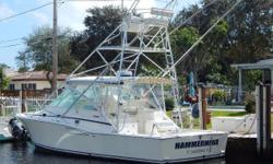 Incredible Fishing Machine at a Great Price! The Cabo 35 Express is renowned as one of the best fishing boats in her size. This one has the preferred Caterpillar diesel engine package and tower upgrades. She appears in good cosmetic and