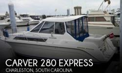 Actual Location: Charleston, SC - Stock #109249 - If you are in the market for a cruiser, look no further than this 1994 Carver 280 Express, just reduced to $12,500 (offers encouraged).This yacht is located in Charleston, South Carolina and is in great