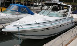 Awesome, super clean twin engine cabin cruiser.  It shows better than a 5 year old boat, you will not be disappointed.  Two separate berthing areas, kitchenette, full head and much more.   Nominal Length: 28' Length Overall: 28' Engine(s):