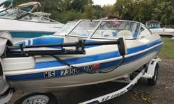Fish and ski with an outboard motor priced to sell. Trades Considered. General Options AXLES (1) BATTERY (2) BILGE PUMP CONTROLS - SIDE DEPTH FINDER ELECTRICAL SYSTEMS - 12 VOLT FIRE EXTINGUISHING SYST - MANUAL FISH FINDER HF0188A MOORING COVER POWER TRIM