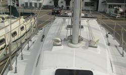 New VC-17 paint, buffed and waxed, 6 post steel cradle, swim ladder, hydraulic backstay, Ritchie compass, manual and electric bilge pump, Horizon speed, Horizon wind, Ray Marine autopilot, Garmin GPS 521 chart plotter, cockpit table, 6 wrenches (4 self