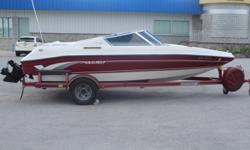 1994 Marada 1800 OB One Owner Boat ? Mercruiser 4.3 V6 190HP LX ? Back To Back Seating ? Lowrance Depth Sounder ? AM/FM CD Stereo ? Tinted Windshield ? Full Mooring Cover ? 7 Passenger ? Painted Single Axle Trailer, Boat Guides, Spare Tire & Mount Stock