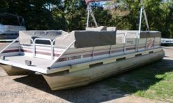 This boat is powered by a Mariner 40hp 2 stroke oil injected outboard. It has seat covers so you don't have uncover the entire boat to go for a ride. There are no tears in the seats. Beam: 8 ft. 0 in. Hull color: White Bimini top;