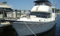 (LOCATION: North Miami FL) The Post 46 Sport Fisherman is a big, brawny, fishing machine with great styling, outstanding accommodations, and exceptional performance.This is a big convertible with roomy flybridge and versatile cockpit. The flybridge