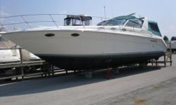 1995 37' Sea Ray Express Cruiser -- FRESH WATER ONLY Since New!! Excellent Condition, Loaded with Electronics, Only 350 HOURS!!! Call with all Offers or to Schedule a Showing today! Engine(s): Fuel Type: Gas Engine Type: Inboard Quantity: 2