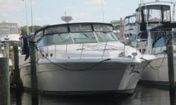 Very clean and well maintained Sea Ray 440 with the upgraded Caterpillar 3208 at 435 HP, canvas and vinyl in good shape, gel coat shines, interior looks and smells fresh. Good electronics package with upgraded Garmin plotter. Turn key and ready for a new