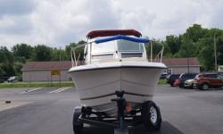 CLEARANCE 1994 SEAPRO 210 Cuddy Cabin ?Dual Axle trailer ?Double bimini tops with curtains to form full camper enclosure ?8' antenna ready for ship to shore radio ?4 Blade aluminum prop ?Plenty of under cushion storage ?Built in rodholders and cupholders