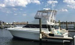 This popular convertible has seen good care since new and boasts lots of recent upgrades including: new starboard engine (2017 - 10 Hrs.), port engine riser and manifolds (2017), new generator (2018). New hardtop & enclosure (2016), new flybridge cushions