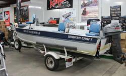 1994 Smoker Craft V16 with Mercury 35HP and Trailer 1994 Smoker Craft V16 with Mercury 35HP and Trailer. This Deep V is great for any water. Plenty of storage and 2 fold down seats. Spare Tire, Motor Lock, MK 40# Troller, and an Eagle Fish Finder are