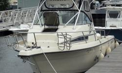 1994 Stratos 2500 WA Length 26.5 Beam 9.8 Fishing Boat Twin 200 hp e-tec Evinrude out board Roof mounted radar unit GPS Fish finder comp Ship to shore radio Twin outriggers Sleeps 2 Alcohol stove Kitchen Bathroom has shower & electric pump-out Fuel