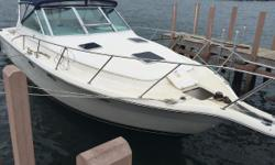 New to Market Features Include Low hours 635 After cooler, heat exchangers , serviced in 2015. Great value for a Cummins Diesel 300 hp. 31' Open Tiara. Nominal Length: 31' Beam: 12 ft. 0 in. Fuel tank capacity: 246 Water tank capacity: 38