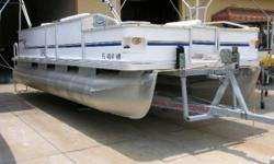 Fun Deck Located in Nokomis, FL.Call Dave at 888-721-9413 or email Sales@cmcboats.com for more information.With 120 HP Force motor, trolling motor, bimini top, live well, rod holders, cockpit table, ski storage, snap-in carpet, L-shaped seating, pedestal,