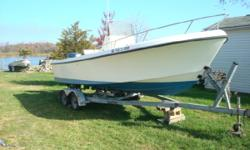 1995 Maycraft 23 CC Call Boat Owner Shawn 410-952-1938. Basic Decription: 1995 23ft maycraft with 2001 Yamaha 150hp ox66 fuel injected saltwater series motor and SS prop .Trailer. Boat is in good shape has SS bow rail and grab rail on console .