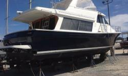 New to the market, this Bayliner Pilothouse comes well equipped and is ready to go. The 4788 proudly served as the flagship of the Bayliner fleet from 1994 to 2002. She comesfully equipped with electric galley, large salon windows, and