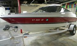 Very clean well maintained runabout that will take care of your boating needs for just a little money. This 18.5 Bayliner with a Merc 3.0 has been mechanically checked and runs great. Comes up on plane quickly and will provide a fun day on the water.