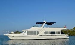 This is a beautiful THREE STATEROOM cruiser with plenty of room for both family and friends. Many upgrades, including a Garmin networked system that includes integrated radar and chart plotters at both upper and lower helm and XM radio. Stable and roomy,