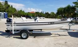 1995 C-Hawk Boats 16CC, Located in Nokomis, FL. Call Coastal Marine for more information. Great Center Console for shallow water fishing With 2010 50 HP Evinrude E-Tec motor, Minn Kota 55lb trolling motor, full covers, rod holders, flip flop seat w/