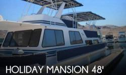 Actual Location: Boulder City, NV - Stock #099668 - If you are in the market for a house, look no further than this 1995 Holiday Mansion Coastal Commander 490, priced right at $66,700 (offers encouraged).This vessel is located in Boulder City, Nevada and