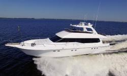 Just Reduced to $924,000 Owner has just spent over $250K in upgrades, Hot Tub, Electronics, Engines Serviced, Bottom Paint, Exterior Upholstery and Canvas Work, She is Powered by Twin 1150hp V12 MTU Diesels, Fly By Wire Controls, 2000 Hour Service