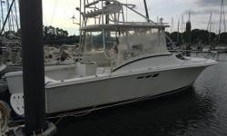 We are proud to offer this 1995 Luhrs 290 for sale. In 2015 she was repowered with twin gas Marine Power 5.7L EFI 310hp fresh water cooled engines. The motors have just over 100 hours on them! She comes with an onboard battery charger, manual and auto